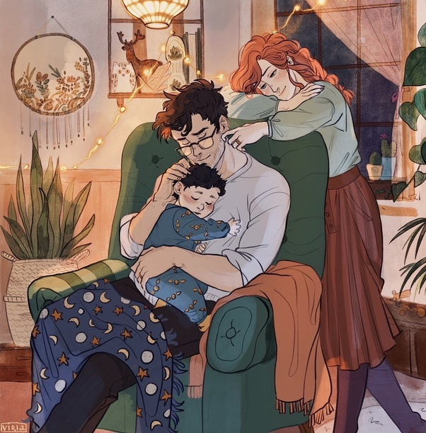 What are some of the best Harry Potter's fan art (emotional