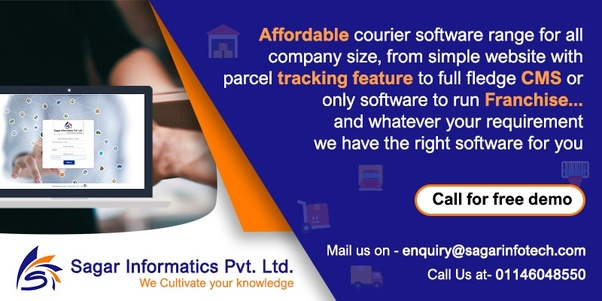 Which is the best courier software provider company in Delhi