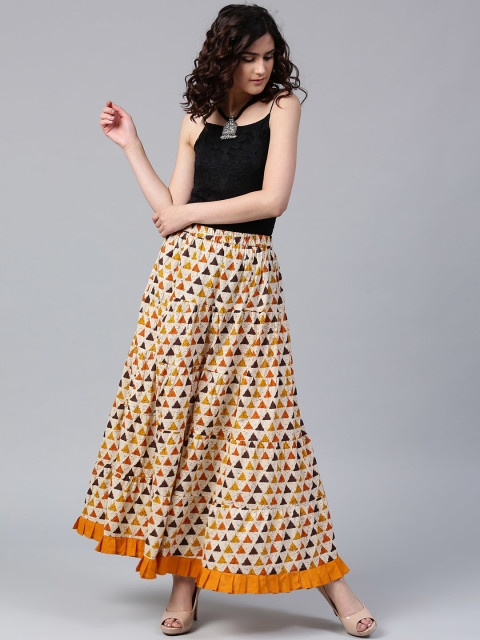 b3626faac3 3) Tuck your chambray shirt into a maxi skirt. Improve the shape of the  outfit by cinching it with a thin belt.