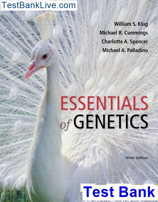 Where can I download Essentials of Genetics 9th Edition Klug