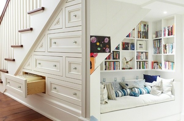 ... Some In Built Cabinets Or Drawers Over There And Shift Some Extra Stuff  From Your Bedroom To This New Storage. Even You Can Make Your Book Shelve  There.