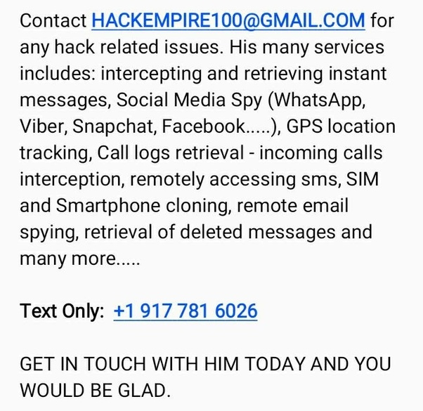 How to hack into my boss WhatsApp and email adress - Quora