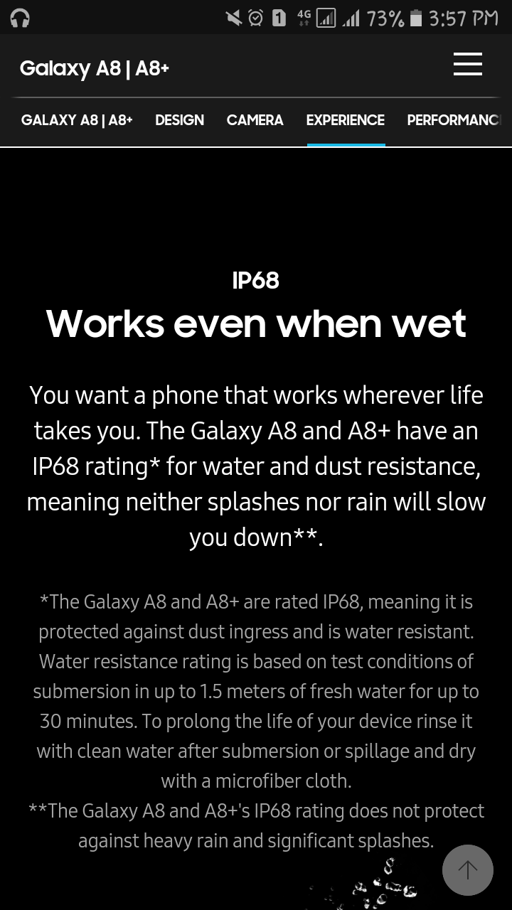 huge selection of 1cce4 923dd Is the Samsung Galaxy A8+ 2018 waterproof? - Quora