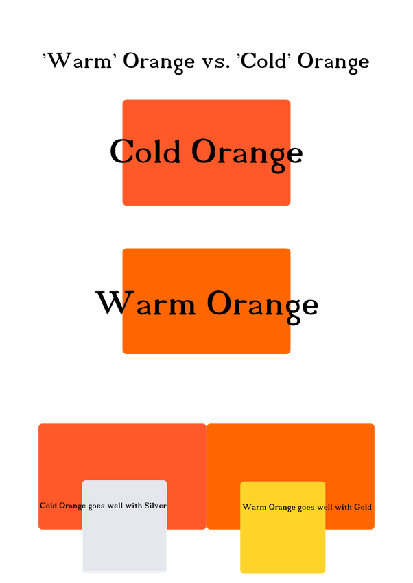 which color goes best with orange dress quora. Black Bedroom Furniture Sets. Home Design Ideas