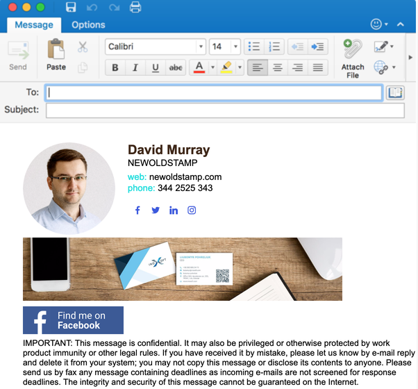 Microsoft Outlook : Why does my email signature come back