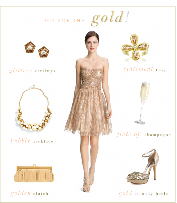 What Jewelry Do I Wear With A Rose Gold Sequin Dress Quora