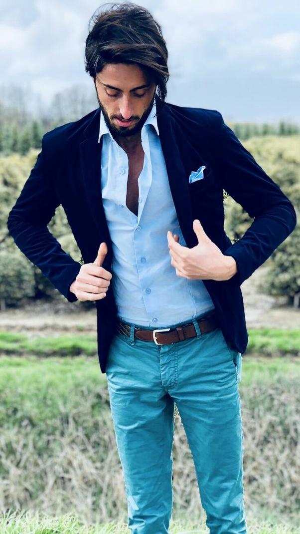 2421d8777 What color of a blazer matches a sky blue trouser? - Quora