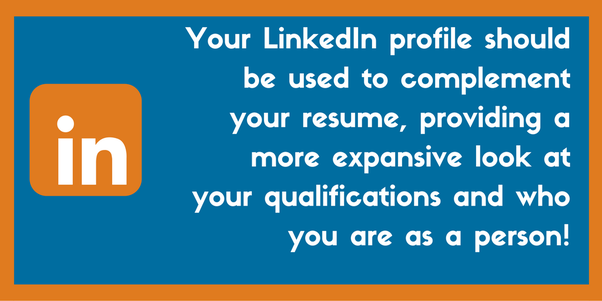 How Should My Linkedin Profile Differ From My Resume Quora