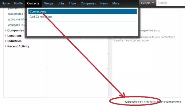 How to check whether or not i already sent a linkedin invitation to heres an image to help you out stopboris Image collections