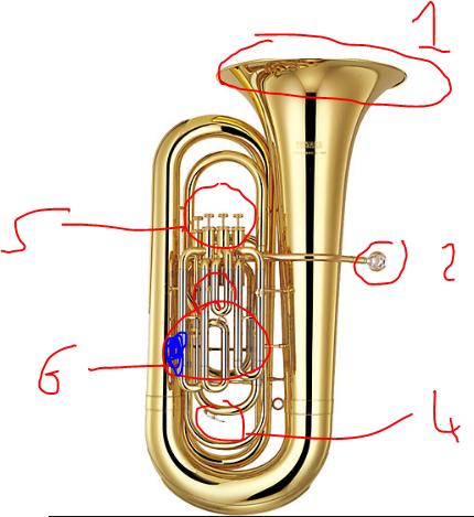 Tuba Parts Yamaha