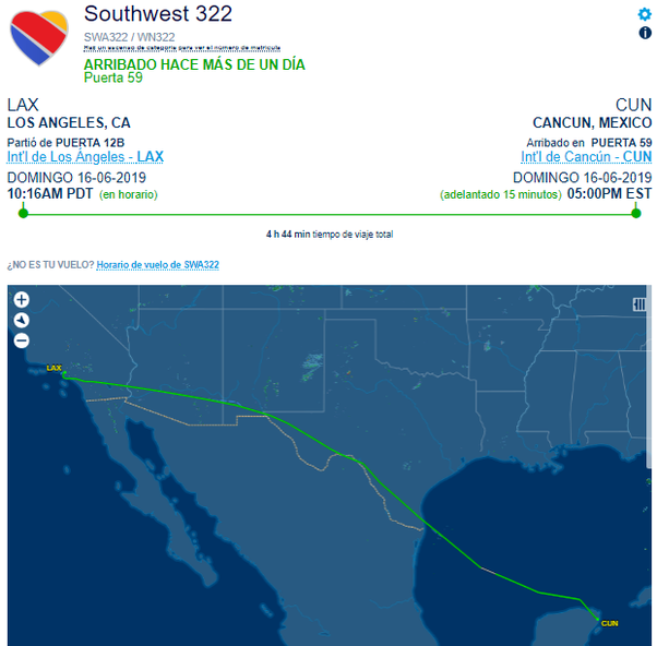 Why would a flight from San Diego to Cancun fly all the way