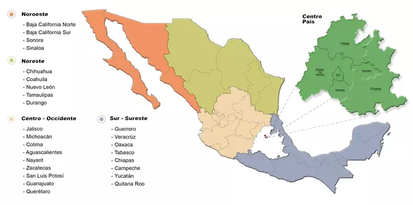 Which Mexican states are considered to make up Central Mexico Quora