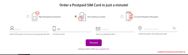 How to deactivate a Vodafone postpaid connection in India