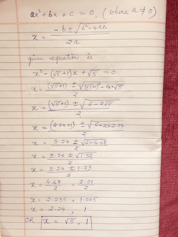 How To Solve The Equation By Completing The Square [math]x^2+5x-6=0[/math]  - Quora