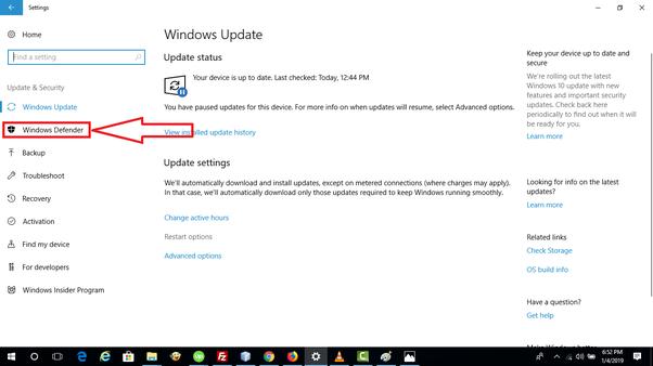 How to turn off Windows Defender in Windows 10 - Quora