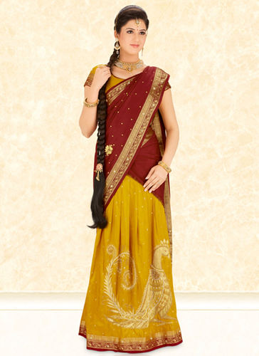 What Is The Difference Between A Saree And A Half Saree Quora