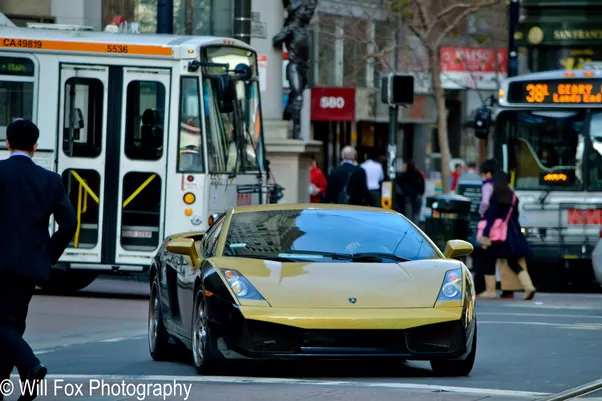 Beautiful Here Is Another, Dennis Rodmanu0027s Old Gallardo, Later Owned By A Local  Student. Note The City College Of San Francisco Parking Sticker In The  Window.