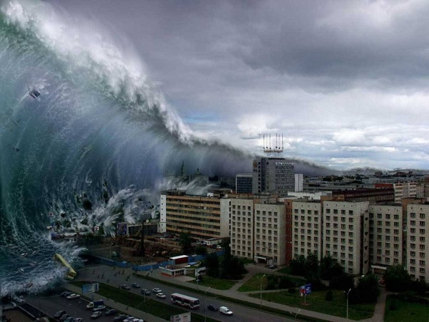 How are the heights of tsunamis measured? How tall is an average