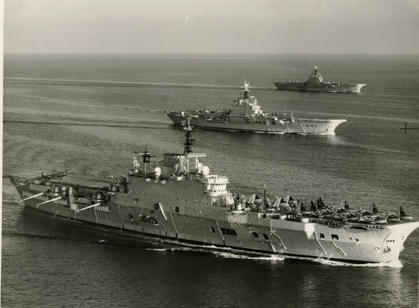 How many aircraft carriers (of all types) did the Royal Navy have