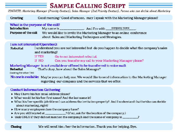 What are the best telemarketing scripts? - Quora