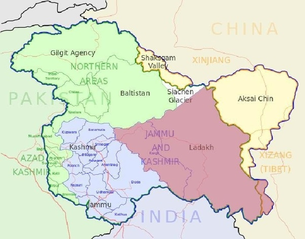 India Original Map Are Siachen and POK currently parts of India? What is the original