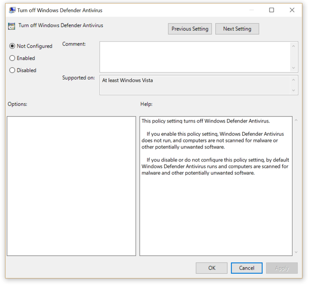 Why does Group Policy disable Windows Defender in Windows 10? - Quora