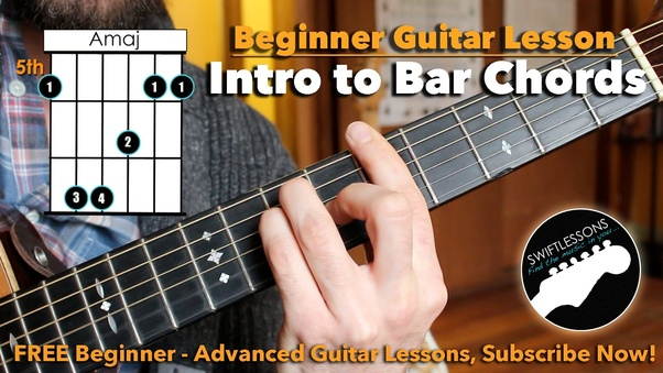 Guitars How Can I Get Better At Playing Barre Chords Quora