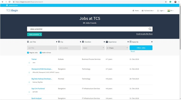 How to become a data scientist in TCS - Quora