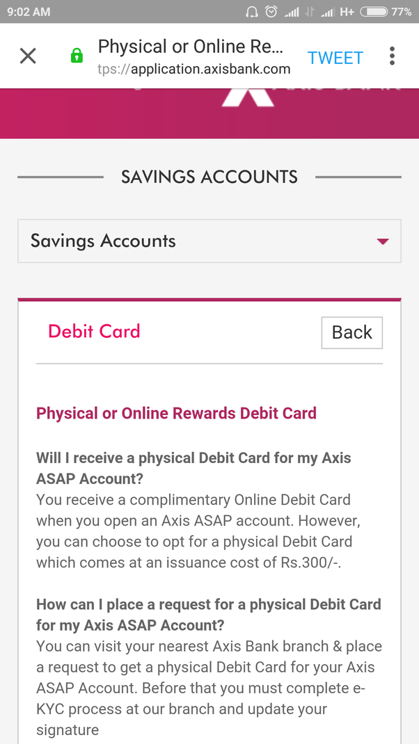 How to close your axis bank account online