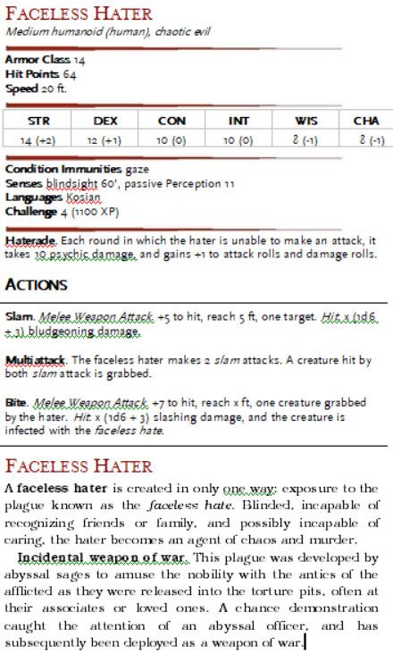 Would anybody care to share a homebrew D&D/Pathfinder