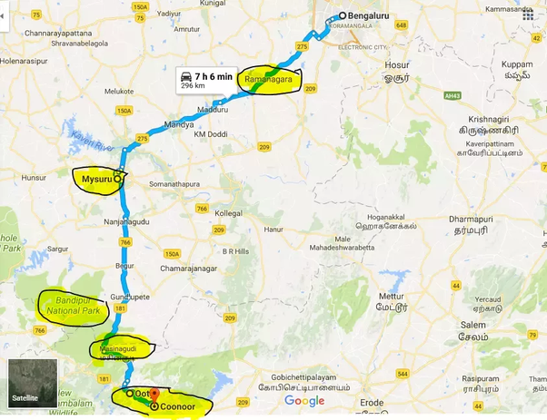 Ooty In India Map.How To Plan A Trip To Ooty For 2 Days And One Night Quora