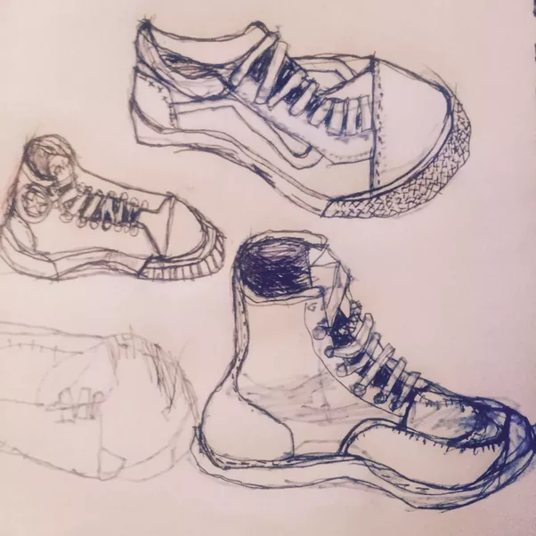 how to draw shoes on a semi realistic drawing quora