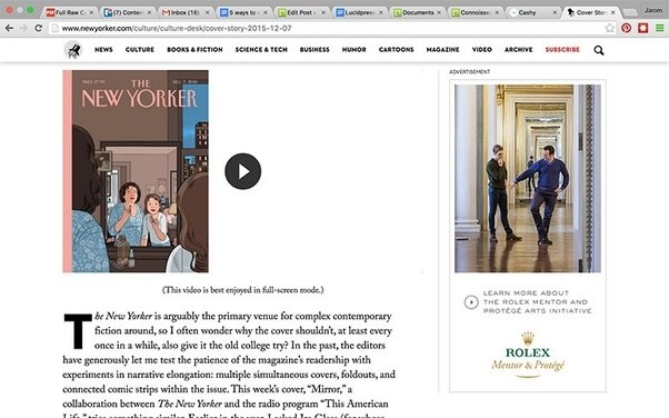 A Display Ad On The New Yorker Website. It Does A Good Job Of Targeting New  Yorker Readers Who Are, Theoretically, Into Art.