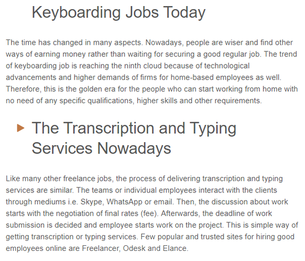 keyboarding job essay Using proper keyboarding posture: free informative sample to help you write excellent academic papers for high school, college, and university check out our professional examples to inspire at.