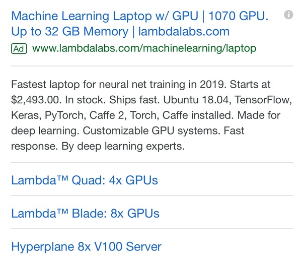 What's the best laptop to run machine learning models in
