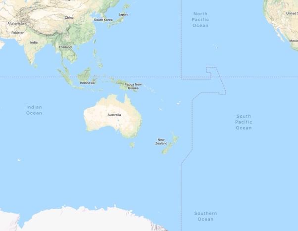 Oceans Around Australia Map.What Are The Oceans Surrounding Australia Quora