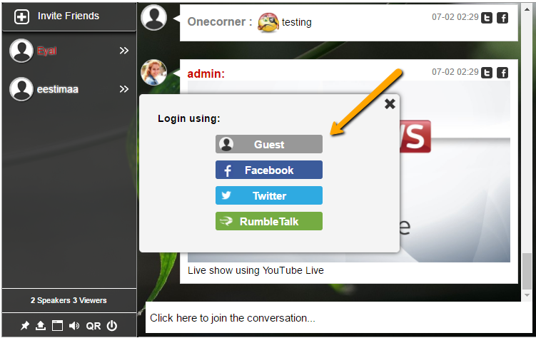 Which chat room for websites have a guest login? - Quora