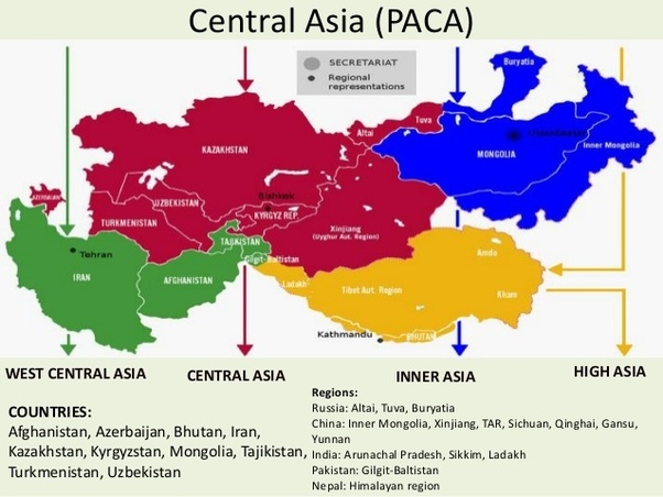 Map Of Central And South Asia.Why Does South Asia Have More People Than Central Asia Quora