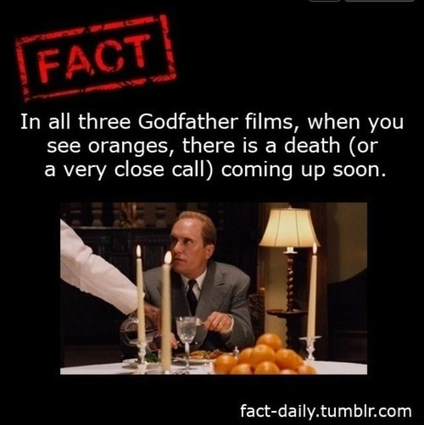What Are The Occurences In The Godfather Films When Oranges Are Used
