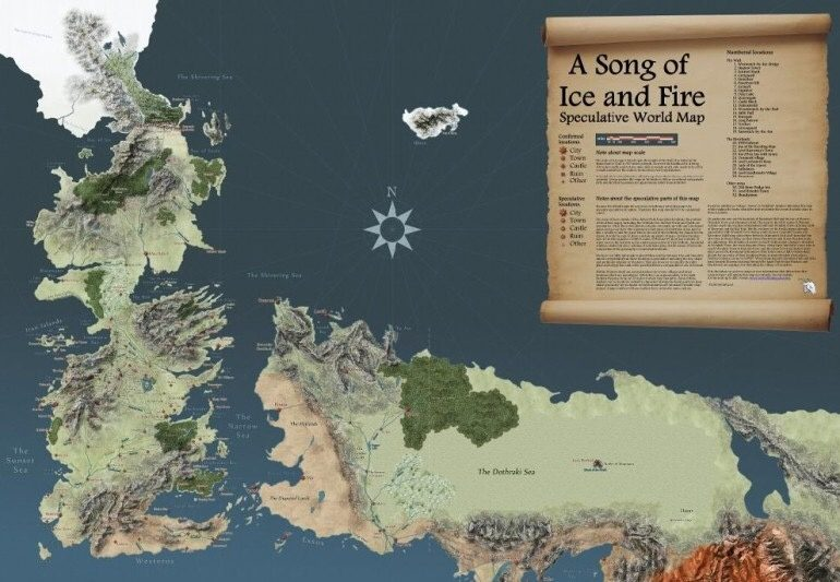 The world in A Song of Ice and Fire is always depicted as a ...
