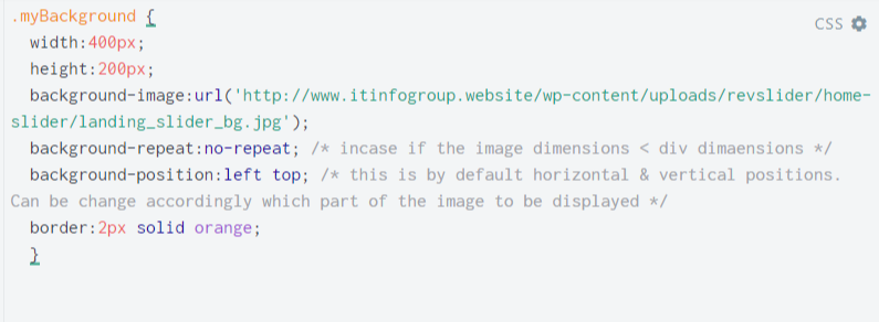 How to add an image in div by class using a background image