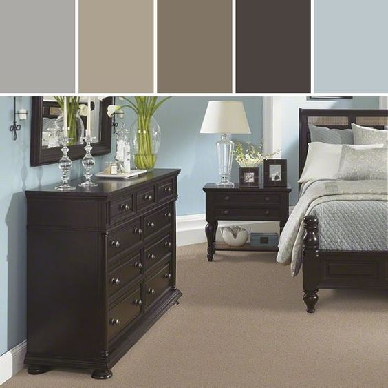 In My Bedroom I Have Large Very Dark Brown Furniture What Colors