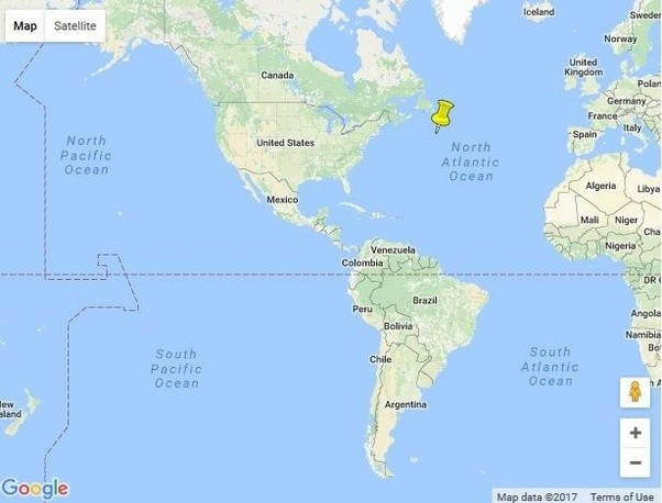atlantic ocean titanic location