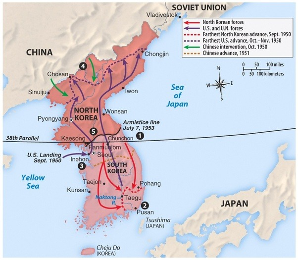 Why Couldnt America Win The Korean War Quora - 38th Parallel Us Map