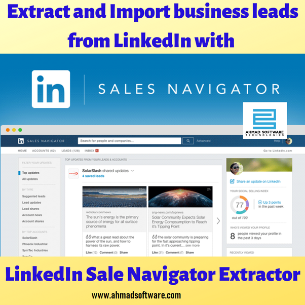 How to import my LinkedIn Sales Navigator Accounts/Leads - Quora