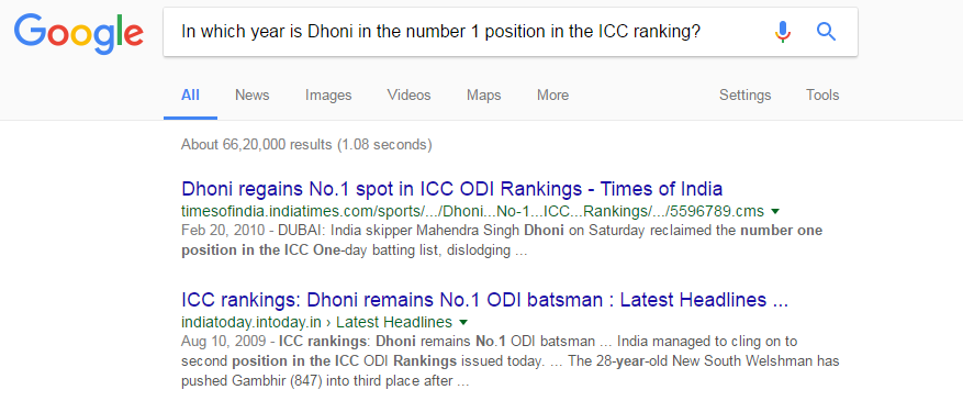 in which year is dhoni in the number 1 position in the icc ranking