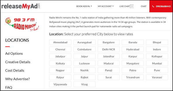 How to book ads with Radio Mirchi - Quora