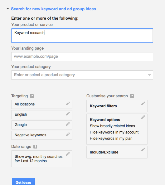 How to Use Google Keyword Planner? 1