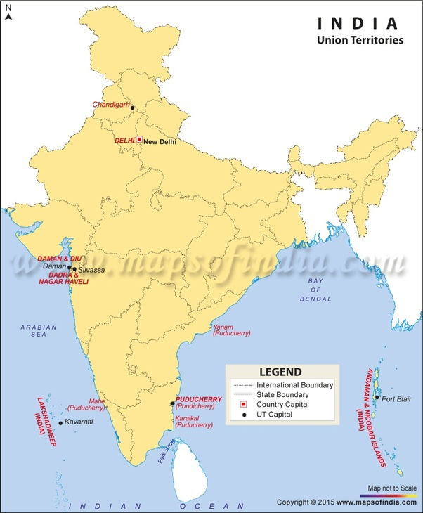 7 union territories of india in map What Are The Union Territories Of India Why Are They Classified 7 union territories of india in map