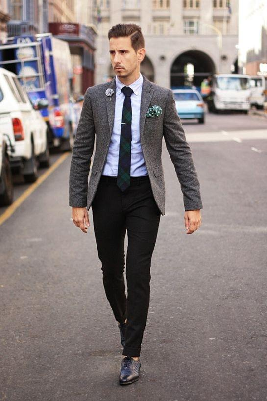 Does a navy jacket look good with black pants? - Quora